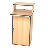 Lockable computer workstation - adjustable shelf hire