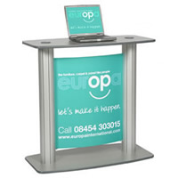 Lecturn Display POD Stand (graphic separate) hire