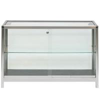 1.25m Glass Showcase Cabinet - Lights & lockable hire
