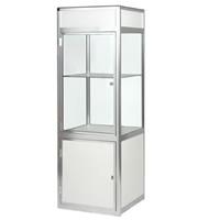 Glass Showcase Cabinet - illuminated/lockable hire
