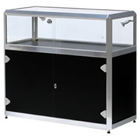 Glass Jewellery Cabinet - Lights & lockable hire