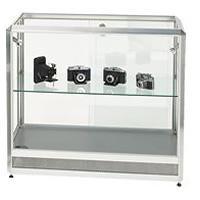 Glass Showcase Cabinet - illuminated & lockable hire