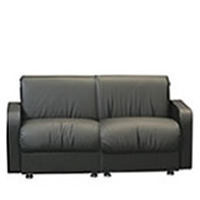 Buckingham two-seater Leather sofa hire