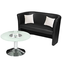 Eple Two Seater Leather Sofa (Faux) hire