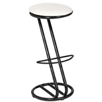 Zeta black frame bar stool hire