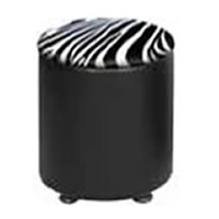 Round Faux Leather Stool hire