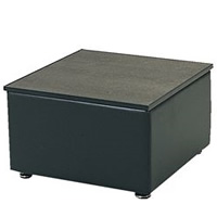 Buckingham Leather square coffee table hire