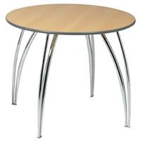 Apollo 3' chrome legged round table hire