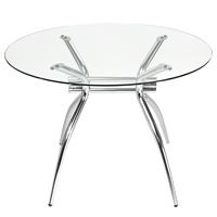 Aphrodite round meeting table hire