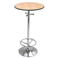 Omega chrome base poseur bar table hire hire