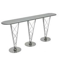 Aurora chrome bar table hire
