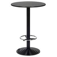 2'6''Round Black Leg Poseur Bar Table hire