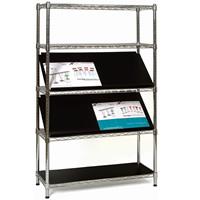 Chrome 5 Shelf Display Stand - Shelves seperate hire