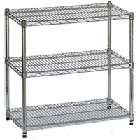3-shelf display stand hire