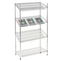 4 Shelf (3 Angled) Chrome Rack hire
